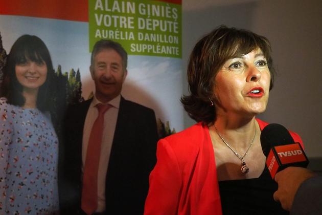 Carole Delga, présidente de la région Occitanie, à Capendu, dans l'Aude, le 18 mai 2017