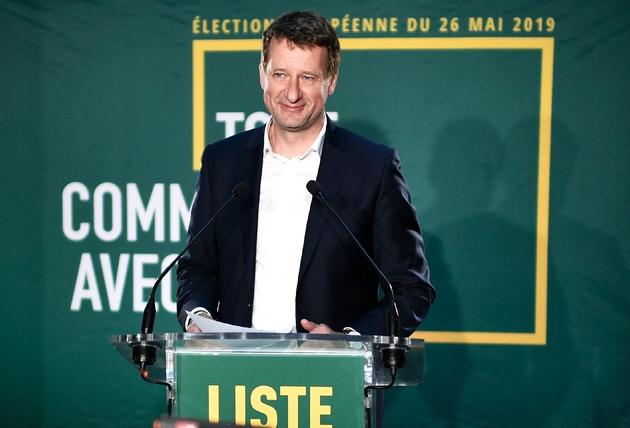 Yannick Jadot s'exprime après l'annonce des résultats dans un restaurant à Paris, le 26 mai 2019