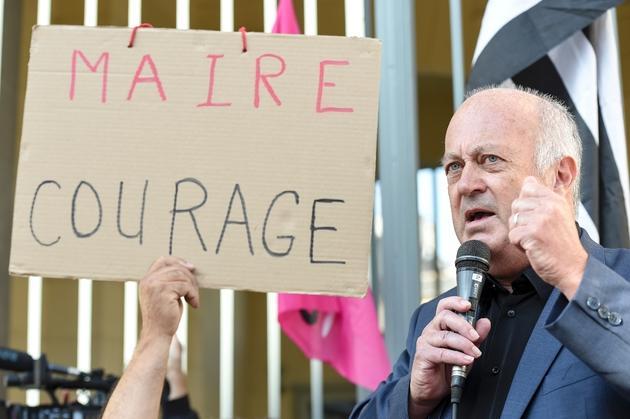 Daniel Cueff, maire de Langouet, le 22 août 2019 à Rennes