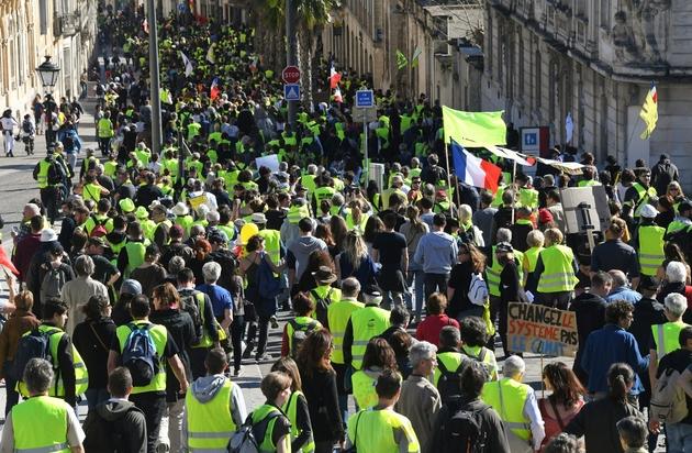 "Manifestation des ""gilets jaunes"" samedi 16 mars 2019 à Montpellier"