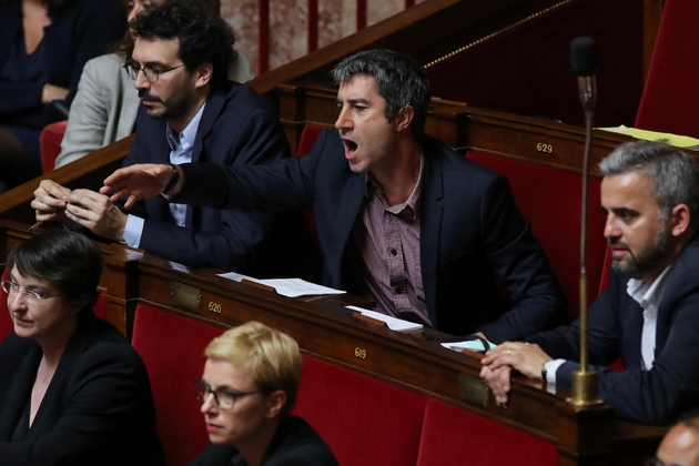François Ruffin, député La France insoulmise (LFI) lors des débats de l'Assemblée nationale, à Paris, qui se sont conclus mardi 28 mai 2019 par l'adoption en 1ère lecture du projet de loi sur la fonction publique.
