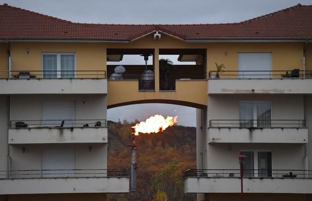 L'aciérie de Florange, dans la vallée de la Fensch, le 17 novembre 2016