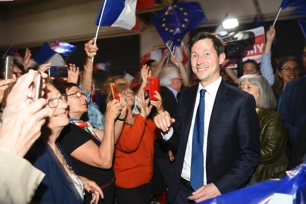 François-Xavier Bellamy, tête de liste des Républicains (LR) pour les européennes, le 22 mai 2019 à Nîmes