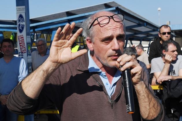 Philippe Poutou, le 26 février 2019, lors d'une manifestation contre la fermeture de l'usine Ford de Blanquefort (Gironde)