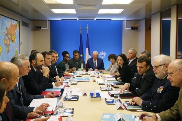 Conseil de Défense consacré au coronavirus, le 29 février 2020 à Paris