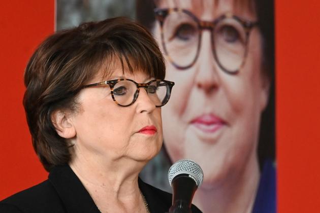 La maire sortante de Lille, Martine Aubry candidate qui brigue un nouveau mandat présente son programme le 1er février 2020