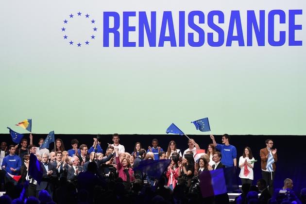La tête de liste aux Européennes pour LREM Nathalie Loiseau en meetinfg à Strasbourg, le 11 mai 2019
