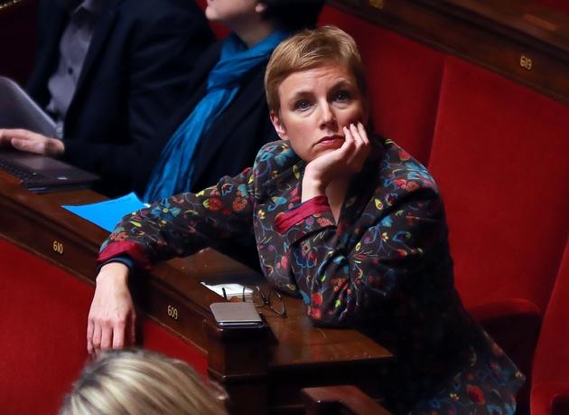 La députée insoumise Clementine Autain, à l'Assemblée le 6 février 2018