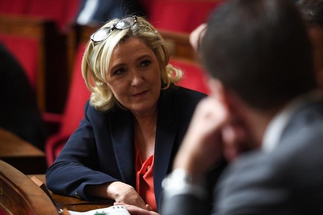 Marine Le Pen, à l'Assemblée nationale le 27 novembre 2018 à Paris