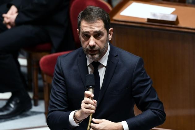 Christophe Castaner lors des questions aux gouvernement à l'Assemblée nationale à Paris, le 29 janvier 2019
