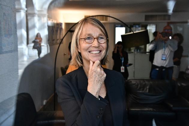 La ministre de la Culture,Françoise Nyssen, donnée partante, à La Rochelle, le 14 septembre 2018