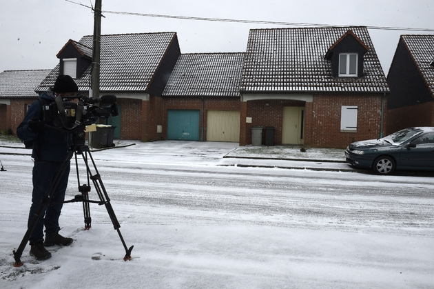 La maison de Dino Scla, le 1er mars 2018 à Pont-sur-Sambre, près de Maubeuge