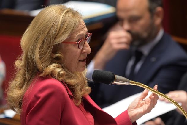 La ministre de la Justice Nicole Belloubet à l'Assemblée nationale, le 18 juin 2019 à Paris