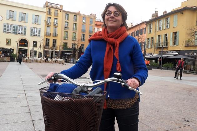 La candidate EELV aux municipales, Agnès Langevine, le 27 janvier 2020 à Perpignan