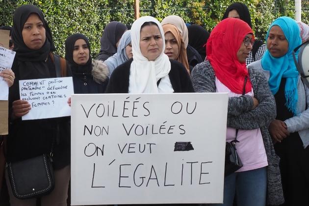 """Des parents du """"collectif 66 des mamans en colère"""" manifestent pour l'égalité le 28 mai 2019 à Perpignan"""