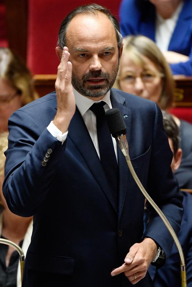 Le Premier ministre Edouard Philippe lors la séance des questions au gouvernement à l'Assemblée nationale, le 09 octobre 2018