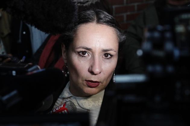Eva Loubrieu, une des plaignantes contre Georges Tron, le 15 novembre 2018 à Bobigny