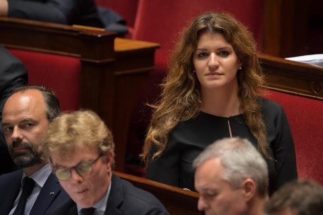La secrétaire d'Etat à l'égalité entre les femmes et les hommes, Marlène Schiappa, le 18 juin 2019 à l'Assemblée nationale à Paris
