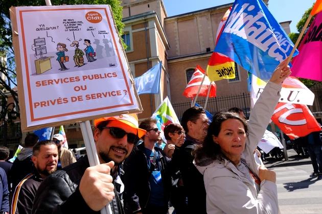 Manifestation des fonctionnaires le 9 mai 2019 à Marseille