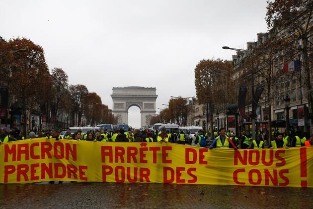 Manifestation de gilets jaunes, le 1er décembre 2018 à Paris