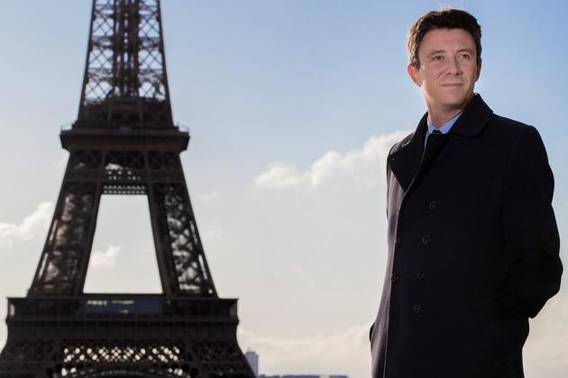 Le candidat investi par LREM pour la mairie de Paris, Benjamin Griveaux, le 2 octobre 2019 sur le parvis du Trocadéro à Paris
