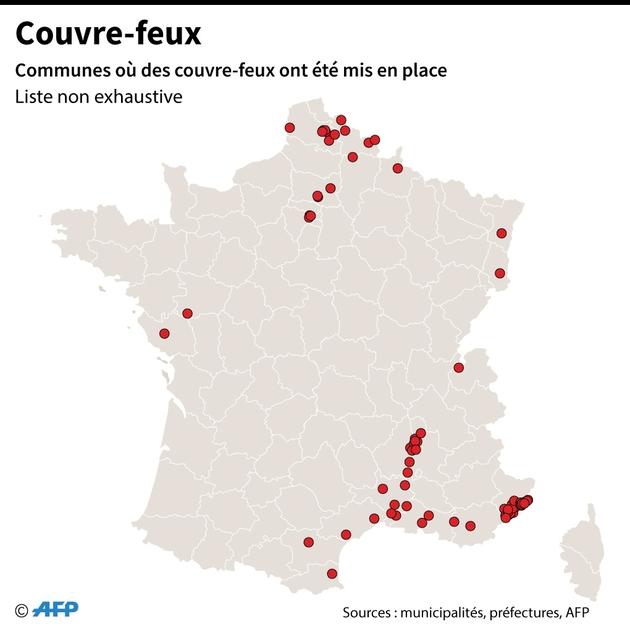 Couvre-feux en France