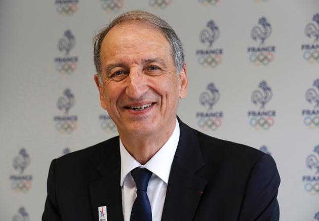 le président du Comité olympique français (CNOSF), Denis Masseglia en conférence de presse à la Maison du sport français à Paris, le 11 mai 2017