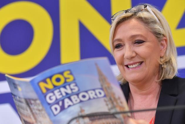 Marine Le Pen, à Bruxelles le 5 mai 2019