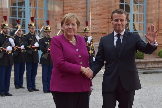 Emmanuel Macron et Angela Merkel, le 16 octobre 2019 à Toulouse