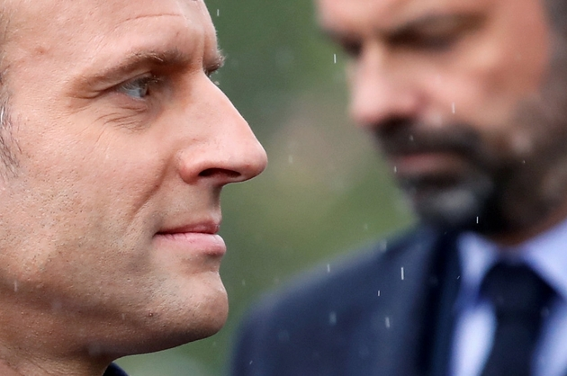 Le président Emmanuel Macron (G) et le Premier ministre Edouard Philippe (D) le 8 mai 2019 à Paris