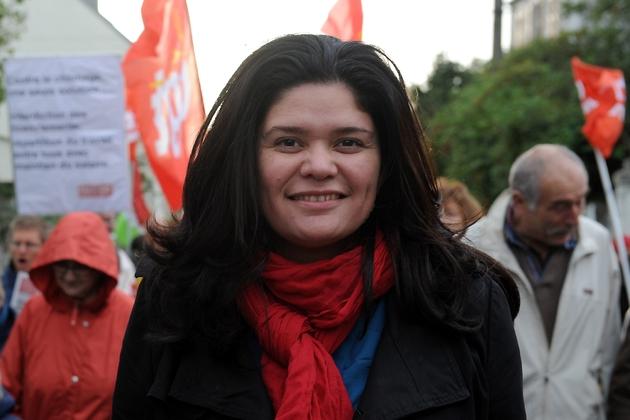 Raquel Garrido, de La France insoumise, le 2 novembre 2013 à Carhaix-Plouguer
