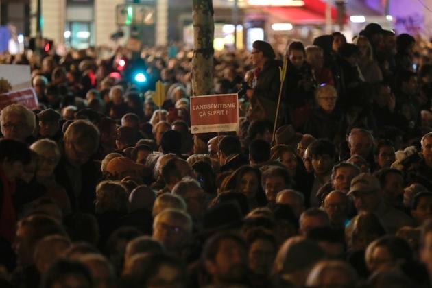 Rassemblement contre l'antisémitisme, le 19 février 2019 à Paris