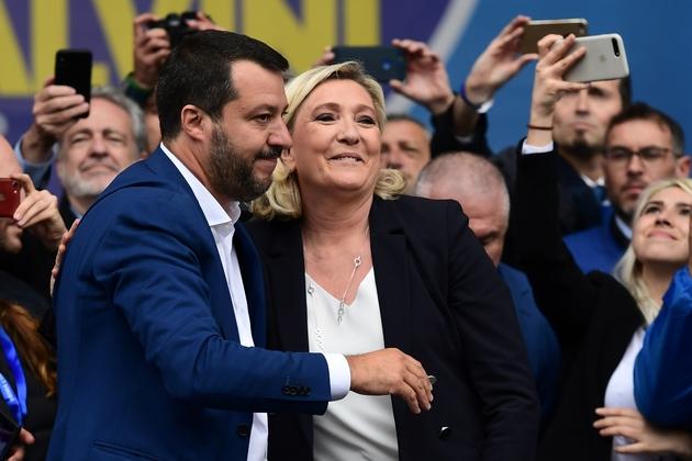 Marine Le Pen et Matteo Salvini, le 18 mai 2019 à Milan