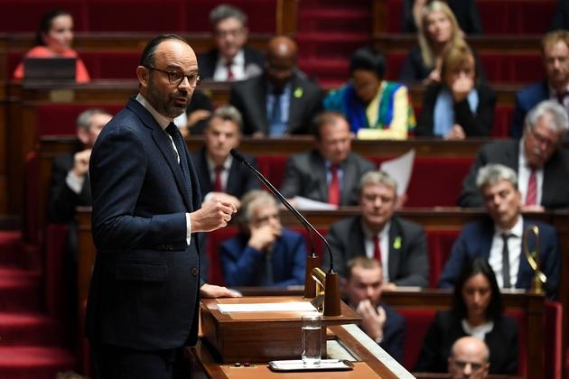Le Premier ministre Edouard Philippe à l'Assemblée nationale, le 5 décembre 2018 à Paris