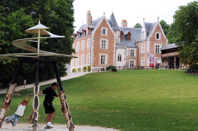 Le château du Clos Lucé à Amboise, dernière demeure de Léonard de Vinci, le 2 juillet 2009