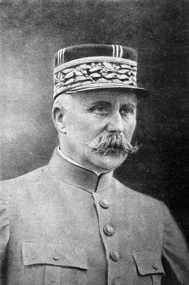 """Portrait du Maréchal Philippe Pétain datant de 1914, issu des collections du musée """"Historial de Peronne"""" consacré à la Première guerre mondiale"""