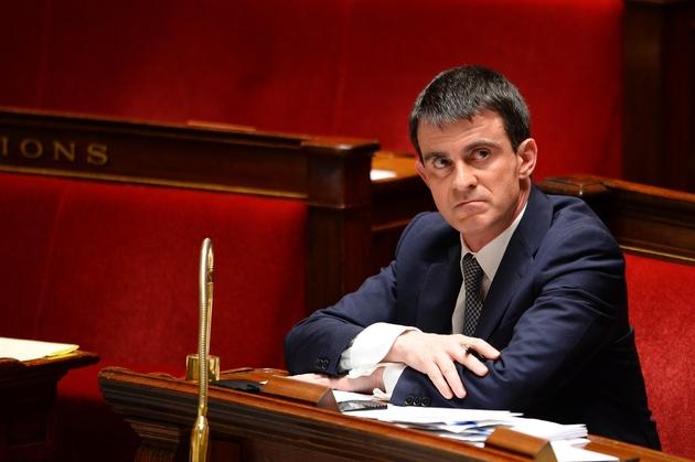 Manuel Valls le 8 avril 2014 à l'Assemblée nationale à Paris