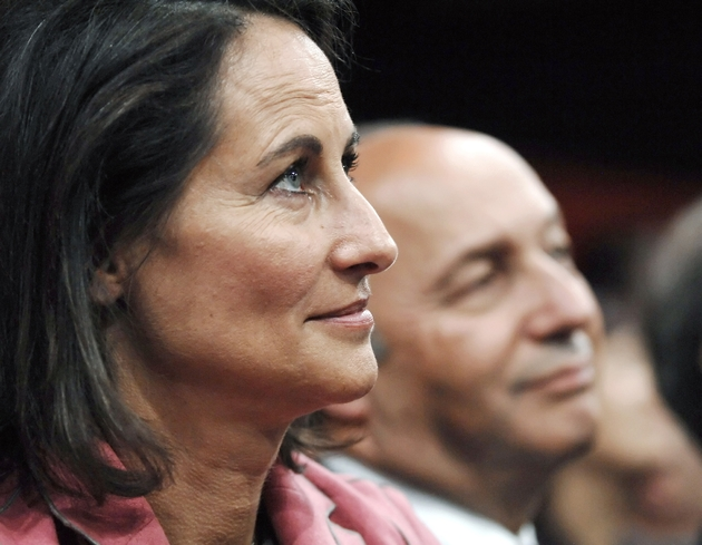 Ségolene Royal, juste après sa défaite aux présidentielles et Laurent Fabius, lors d'un meeting à Paris, le 29 mai 2007