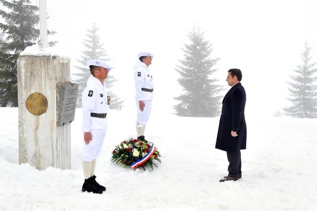 Nicolas Sarkozy au mémorial des Glières en mars 2018