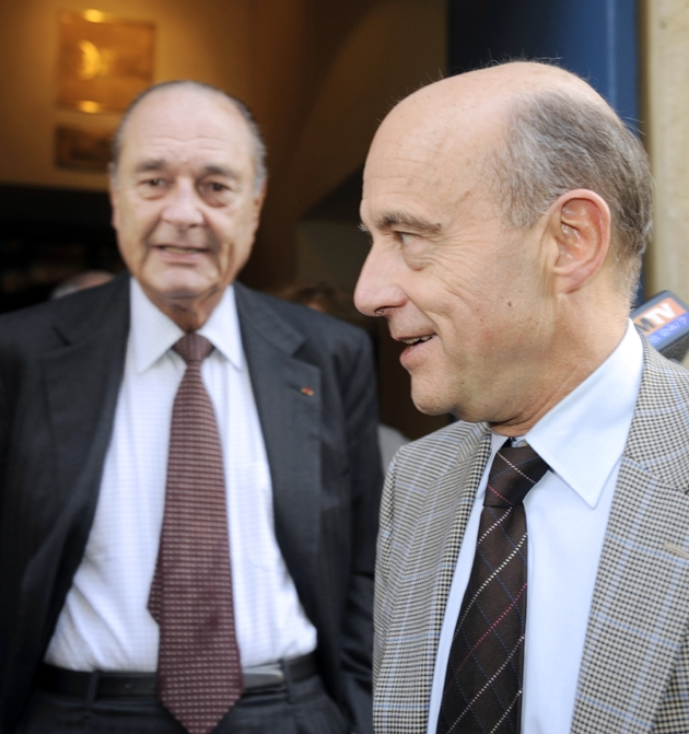 Jacques Chirac et Alain Juppé, à Bordeaux le 20 novembre 2009