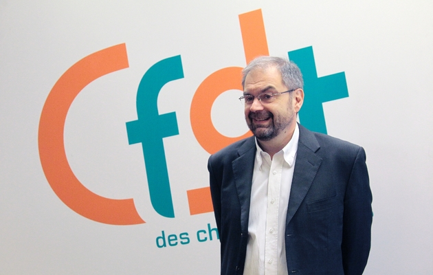 François Chérèque le 16 avril 2010, au siège de la CFDT à Paris