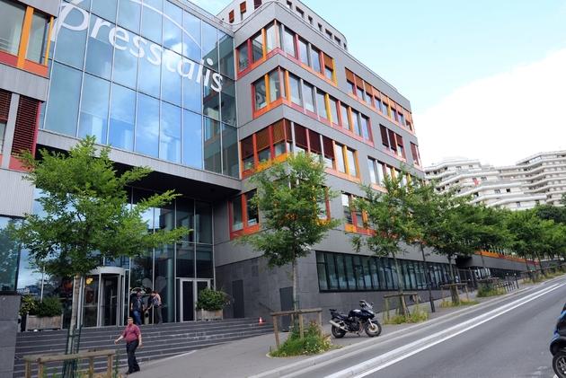 Le siège de Presstalis, le 3 juillet 2012 à Paris
