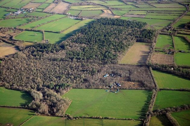 Vue aérienne du site de Notre-Dame-des-Landes près de Nantes, le 2 janvier 2013
