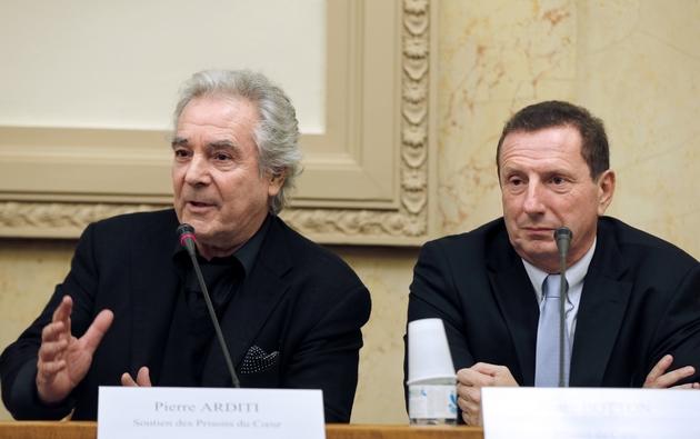 Pierre Arditi et Pierre Botton, à Paris le 31 janvier 2013