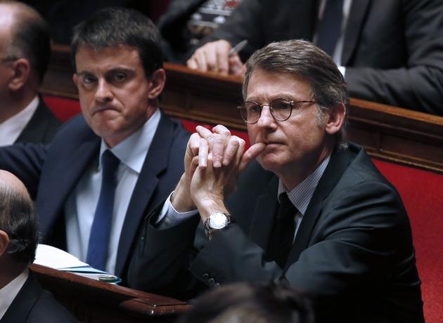 Vincent Peillon  et Manuel Valls lors des questions au gouvernement, le 14 janvier 2014