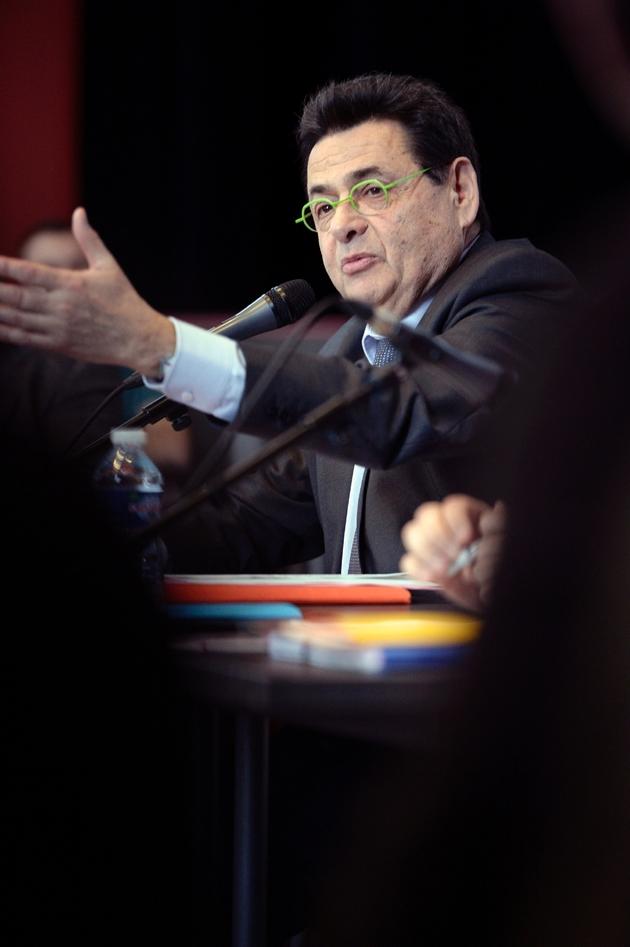 Jean-Paul Bret, maire PS de Villeurbanne photographié en janvier 2014