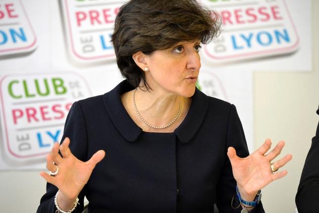 La députée européenne MoDem Sylvie Goulard le 24 avril 2014 à Lyon