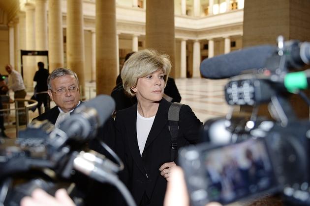 Sylvie Andrieux, le 2 juin 2014 devant le tribunal d'Aix-en-Provence