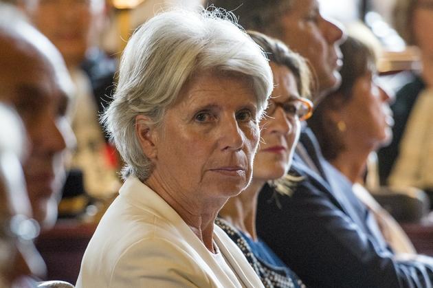 La présidente de la Cour de justice de la République (CJR) Martine Ract Madoux à Paris le 29 août 2014