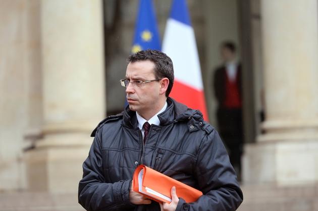 Le maire de Grigny, Philippe Rio, le 29 janvier 2015 à l'Elysée, à Paris